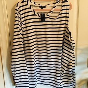 NWT Nautical sweater cold shoulder cut out